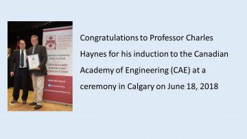 Congratulations to Professor Charles Haynes