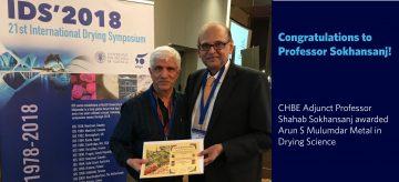 Congratulations to Professor Shahab Sokhansanj