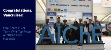 UBC Chem-E-Car Team Wins Top Poster at 2018 AIChE Nationals