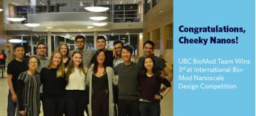 UBC BioMod Team Wins 3rd Place at International BioMod Nanoscale Design Competition