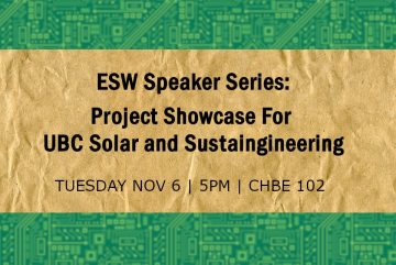 ESW Speaker Series