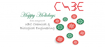 Happy Holidays from everyone at CHBE!