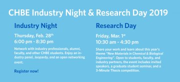 CHBE Industry Night & Research Day 2019