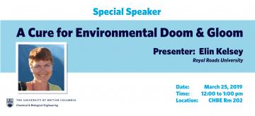 Special Speaker: Dr. Elin Kelsey