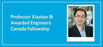 Professor Xiaotao Bi Awarded Engineers Canada Fellowship
