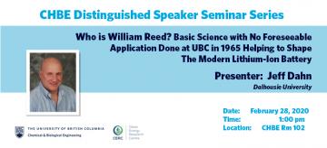 Distinguished Speaker Seminar – Professor Jeff Dahn