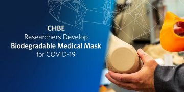 CHBE Researchers Develop Biodegradable Medical Mask for COVID-19