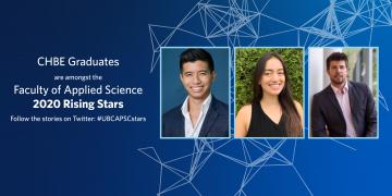 CHBE Graduates amongst 2020 APSC Rising Stars