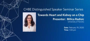 Distinguished Speaker Seminar – Professor Milica Radisic