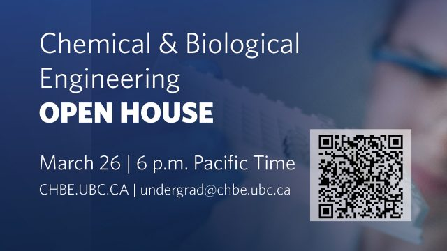 CHBE Open House March 26 at 6 p.m.