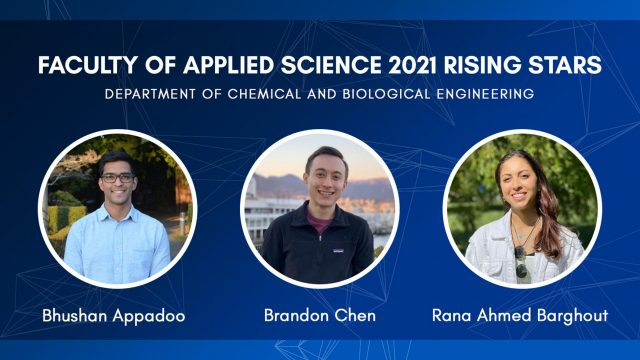 CHBE Graduates amongst 2021 APSC Rising Stars