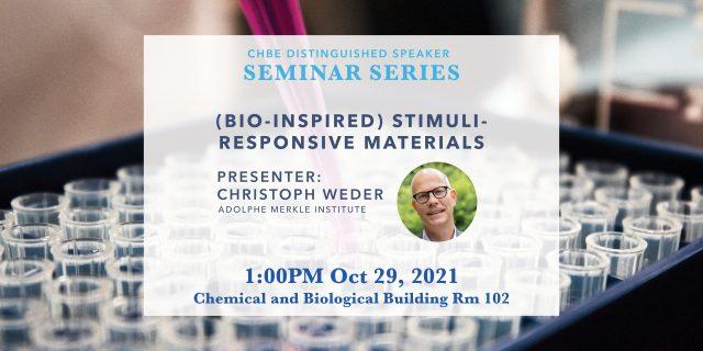 Distinguished Speaker Seminar – Professor Christoph Weder
