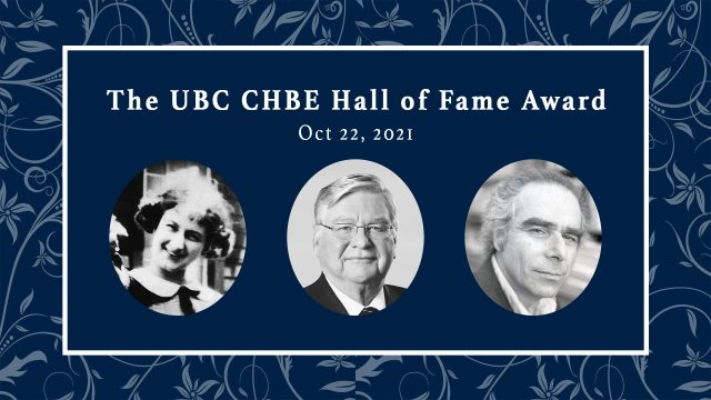 CHBE Hall of Fame Award – October 22, 2021