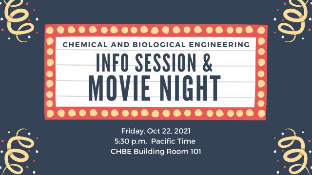 CHBE Info Session & Movie Night – Oct 22